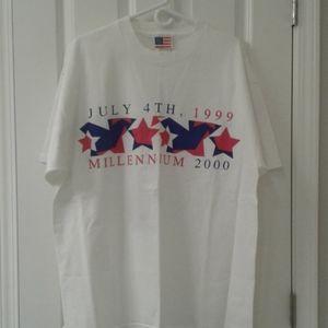 Millennium 2000 White tee shirt